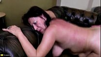 Grandma Takes Young Cock in Old Wet Holes L...