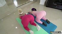 Big Booty Yoga Sluts Take Instructor's BWC - Vi...