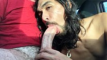 Deepthroat Huge Cock Cum in Car Thumbnail