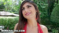 MIA KHALIFA - Busty Arab Blowjob Queen Sucking Tony Rubino's Cock By The Pool