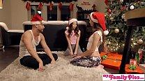 Stepbro's Christmas Threesome And Sister Creamp...