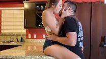 Hot kitchen Fuck - Fucking my sisters boyfriend in Kitchen - Lexi Aaane