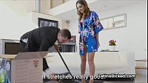 Latina wife blows vacuum salesman Thumbnail