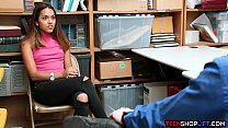 Smart ass teen caught shoplifting and fucked by...