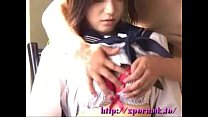 young japanese school girl