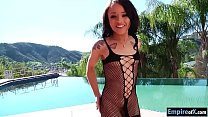 Petite spinner Holly Hendrix anal fucked