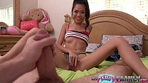 Daddy Caught Petite Asian Teen Fucking Her Step...