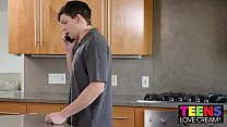 TEEN ALLIE NICOLE SHOWS HER STEPBROTHER HOW TO CREAMPIE
