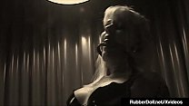 Military Latex RubberDoll Drills Blonde Captive!