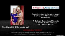 Hot chicks Diana Doll and Shawna Lenee share a big dick
