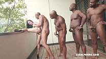 Young Cutie Nelly Kent takes on 4 huge black co...)