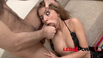 Wild bitch Alis throat fucked extra hard with Monster cock