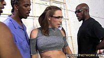 Chanel Preston Gets Fucked By A Crew Of Black Men Thumbnail