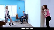 BadMILFS - Slutty Mom Fucks Stepdaughter And He...