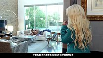 BadMILFS - Busty Stepmom And Daughter Share Hug... Thumbnail