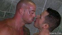 Valentin sensually fucks Sean in the shower