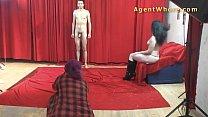 19yo casting boy gets wild striptease from nast...