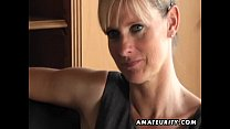 Naughty amateur Milf sucks and fucks with cumshot thumb