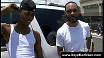 Blacks Thugs Breaking Down Sissy White Boys 14
