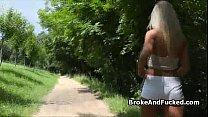 Public park bench sex video