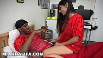 MIA KHALIFA - Busty Arab Babe Sucks Big Black Cock While Pervert Watches