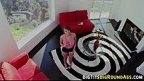 Ebony knockers bounce