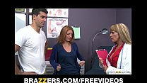 Busty big-tit doctor Shayla Laveaux helps her p...