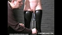 Slavegirl Cherry Torn hooded and pussy tortured...