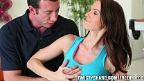 Yoga teacher helps a stressed out Euro MILF to ...