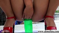 Hot Sexy Feminine Girl Playing With Toys video-20