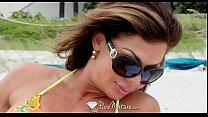 PureMature Busty MILF Nina Dolci fucked after beach body tan