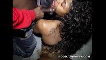 CUTE BLACK TEEN GET GANGBANGED BY TWO BLACK GUYS Thumbnail