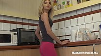 Skinny teen daughter takes daddy's thick cock i...