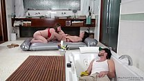 Handyman spying on bisexual masseuses - Alex Mo...