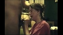 Mature brunette has her throat fucked by BBC