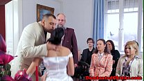 Humiliated bride disciplined and jizzed on