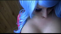 Blue-haired girl makes a gorgeous blowjob. Blow...
