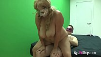 Big boobed chubby blonde needs desperately a co...
