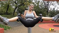 Jump and Running naked in Public Park by Kateri...
