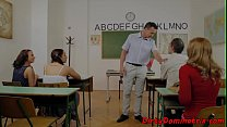 Euro schoolgirl punished by her professor