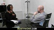 Hot black plumper pleases her boss