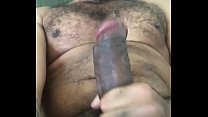stroking my rock hard cock and blowing my load