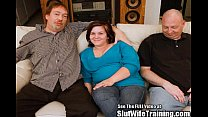 Shy timid wife Janie gets trained to please a p...