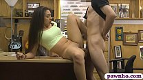Tight babe hammered by nasty pawn dude at the p...