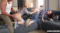 Anal lovers Alessandra Jane & Macy get their as...