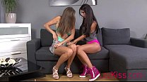 Nessa devil showing girlfriend how to tongue kiss