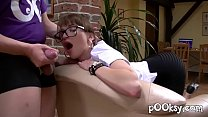 French Secretary with Hot Glasses Loves Deepthroat and Naughty Fuck