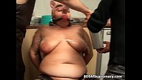 Bizarre BDSM action with fat piggy slut