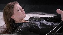 Maria Pie Latex Strapon Solo Until Cumshot Stra...