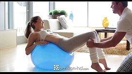 PassionHD A morning workout makes Kasey Warner horny for a fat cock